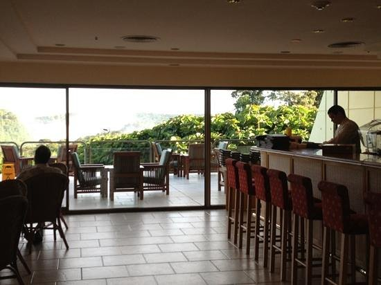 Melia Iguazu:                   the lounge with a view of the falls