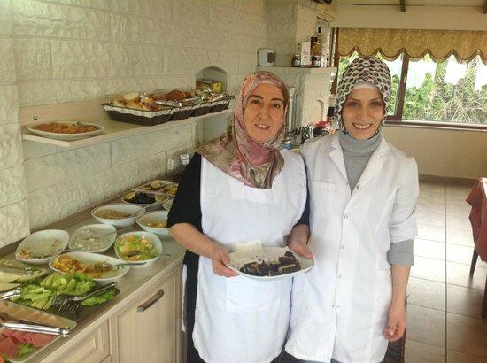 Tashkonak Hotel:                   The breakfast with the nice staff