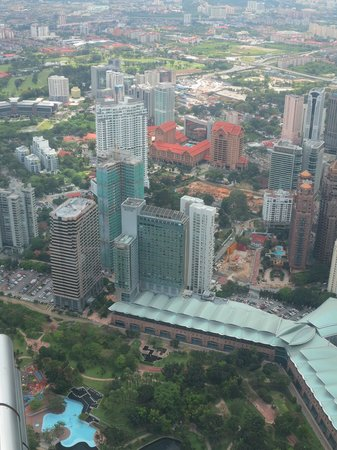 Traders Hotel, Kuala Lumpur:                   View of Traders Hotel from Petronas Twin Towers