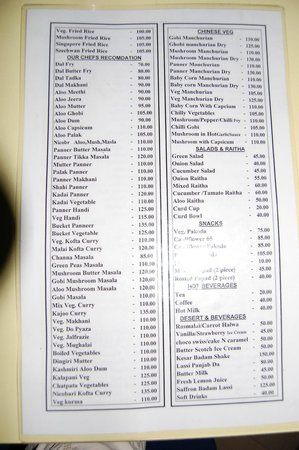 The menu picture of annapurna port blair tripadvisor for Andaman and nicobar islands cuisine