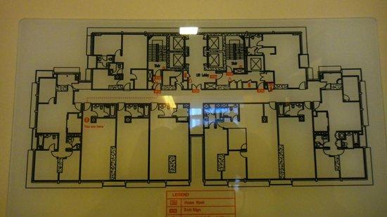 PARKROYAL Serviced Suites Kuala Lumpur:                   Floor layout 30th floor
