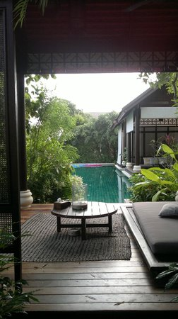 Anantara Lawana Koh Samui Resort:                   View through our private sala to shared private pool