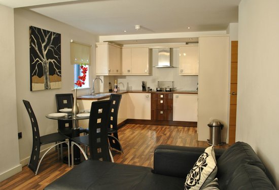 Dreamhouse City West Apartments Open Plan Lounge Dining Kitchen