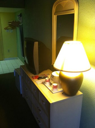 Ramada Kissimmee Gateway:                   One of 2 lights that worked in the room