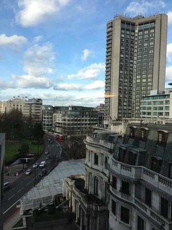 InterContinental London Park Lane:                   overlooking Park Lane from the seventh floor