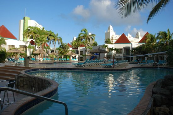 The Mill Resort & Suites:                   The pool area