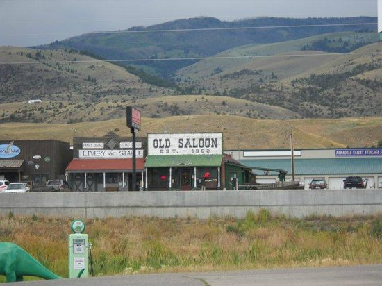 Old Saloon:                   strip where saloon is located (it faces the Absaroka Mountains... beautiful)