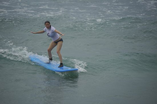 LG Surf Camp:                   My wife's first time surfing