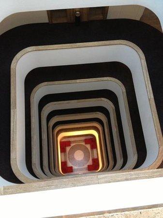 Worldhotel Ripa Roma:                   Vue du haut des 8 étages
