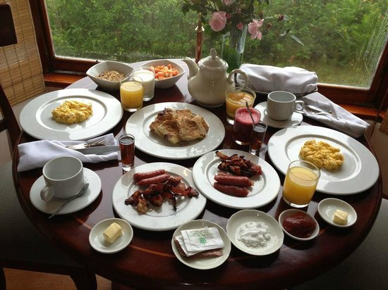 Royal Palm Hotel Galapagos:                   Breakfast is FREE and you order it the night before
