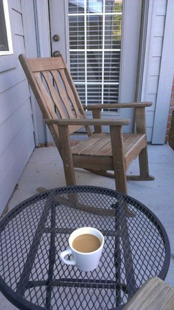 The Villa Bed and Breakfast at Messina Hof:                   Our little patio