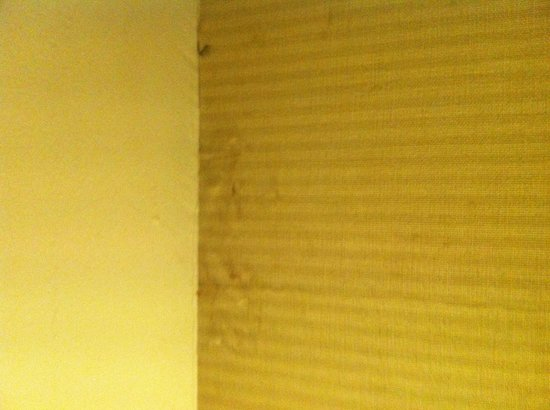 Le Meridien Kota Kinabalu:                   Wallpaper seemingly has not been renewed in decades...