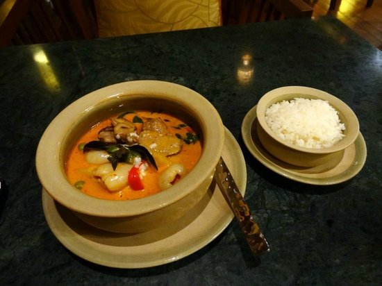De Naga Hotel:                   Red Curry with Duck