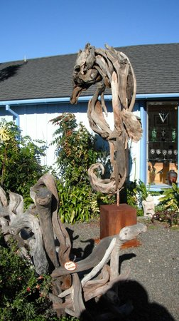 A driftwood seahorse at the Mendocino Art Center on January 21, 2013.