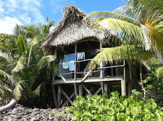 Long Caye Resort:                   Outside view of cabana