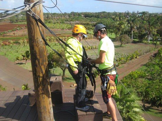 Maui Zipline Company:                   Safety first