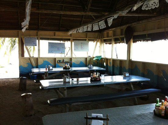 Long Caye Resort:                   Dining Area