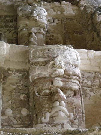 Quintana Roo, Mexico:                   One of the masks at Kohunlich