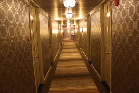 The Madison Washington DC, A Hilton Hotel:                   The corridor at The Madison Hotel!!