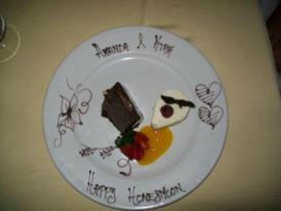 El Dorado Royale, by Karisma:                   Special Dessert at our candel light dinner