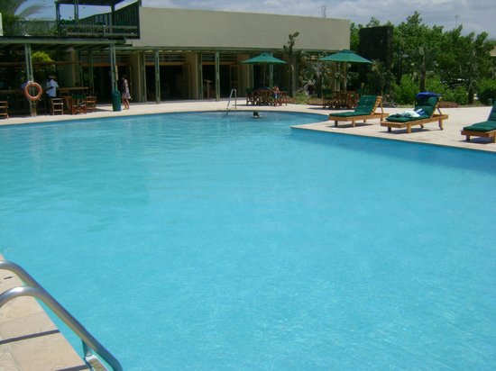 Finch Bay Eco Hotel:                   Finch Bay Hotel swimming pool and deck