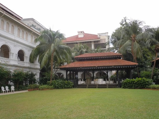 Raffles Hotel Singapore:                   one of the interior gardens