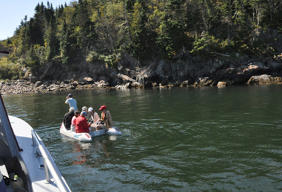 Seguin Island and Lighthouse :                   Seguin dingy