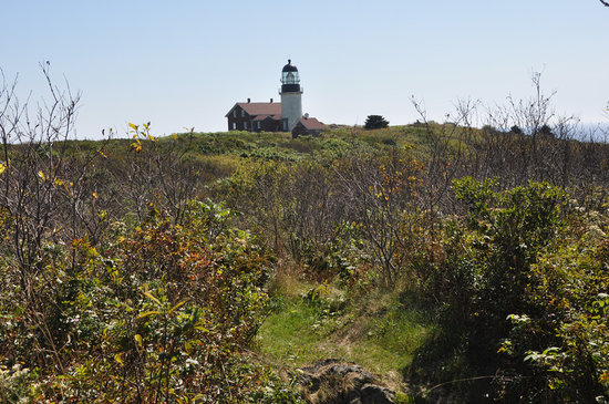 Seguin Island and Lighthouse :                   Seguin hiking trail