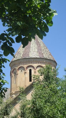 The original glazed tile covered dome of Ishan Church