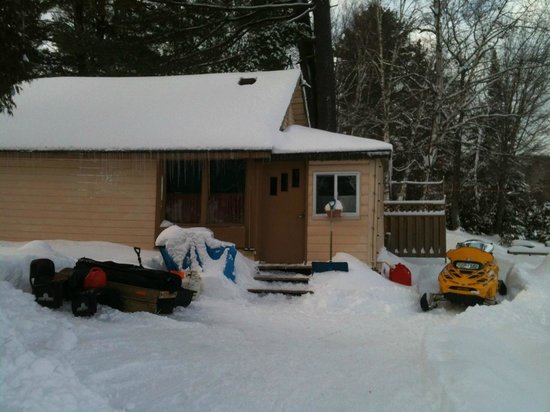 Loralea Country Inn Resort:                   Cottage #7 with sled parking right at the door!