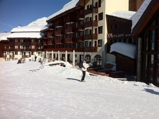 Hôtel Belle Plagne :                                                       acces ski aux pieds