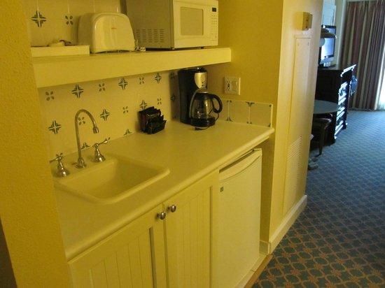 Disney's BoardWalk Villas:                   Kitchen type area of room