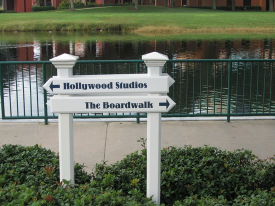 Disney's BoardWalk Villas:                   You can walk the path or take the boat
