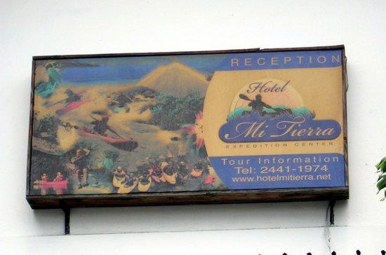 Hotel Mi Tierra:                   Exterior sign