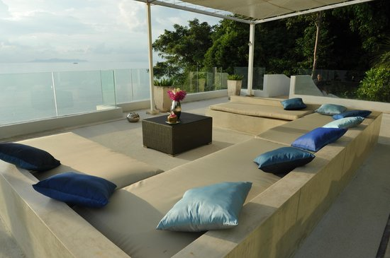Villa Beige:                   Sunset terrace and lounge