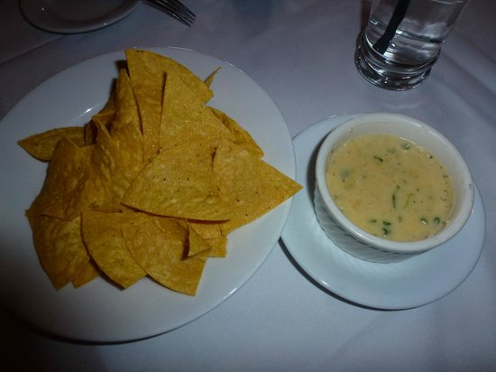 Aqua Sol Restaurant & Bar:                   Aqua Sol Tortilla Chips with cheese dip 2013                 