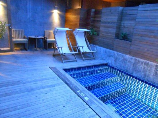 Tango Luxe Beach Villa:                   Le petit cion piscine privé de la chambre