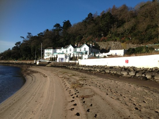 Hotel Portmeirion:                   The hotel from the beach