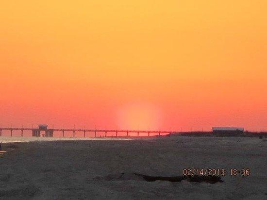 Hilton Garden Inn Orange Beach:                   Sunset from last night of stay