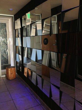 The Pearl Hotel:                   Mirror hallway