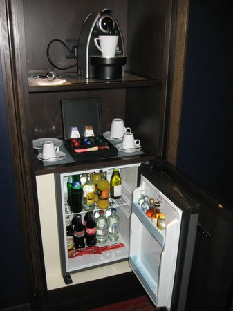 Grand Hotel Amrath Amsterdam Coffee Machine And Mini Bar In Bedroom