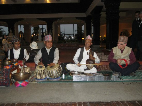Hyatt Regency Kathmandu:                   Musicians, hubby on the right