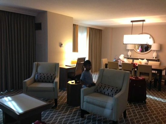 Gaylord Palms Resort & Convention Center:                   Living area of suite