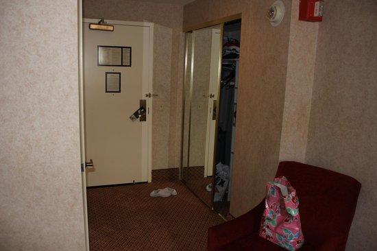The Roosevelt Hotel:                   gangen set fra værelse