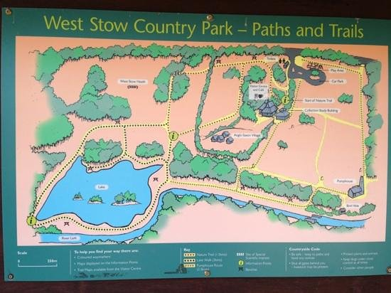 West Stow Country Park and Anglo-Saxon Village:                   a map