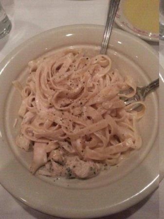 Maggiano's Little Italy:                   chicken Alfredo