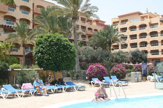Hotel Elba Sara:      widok z basenu             view from the pool