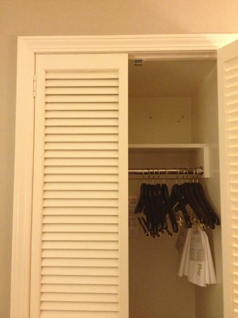 The Tuscan:                   The small closet