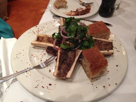 The Local Grill:                   marrow starter (parsley salad is an added bonus)