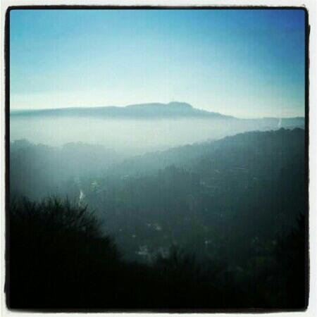 Heights of Abraham:                   Mist over Matlock Bath